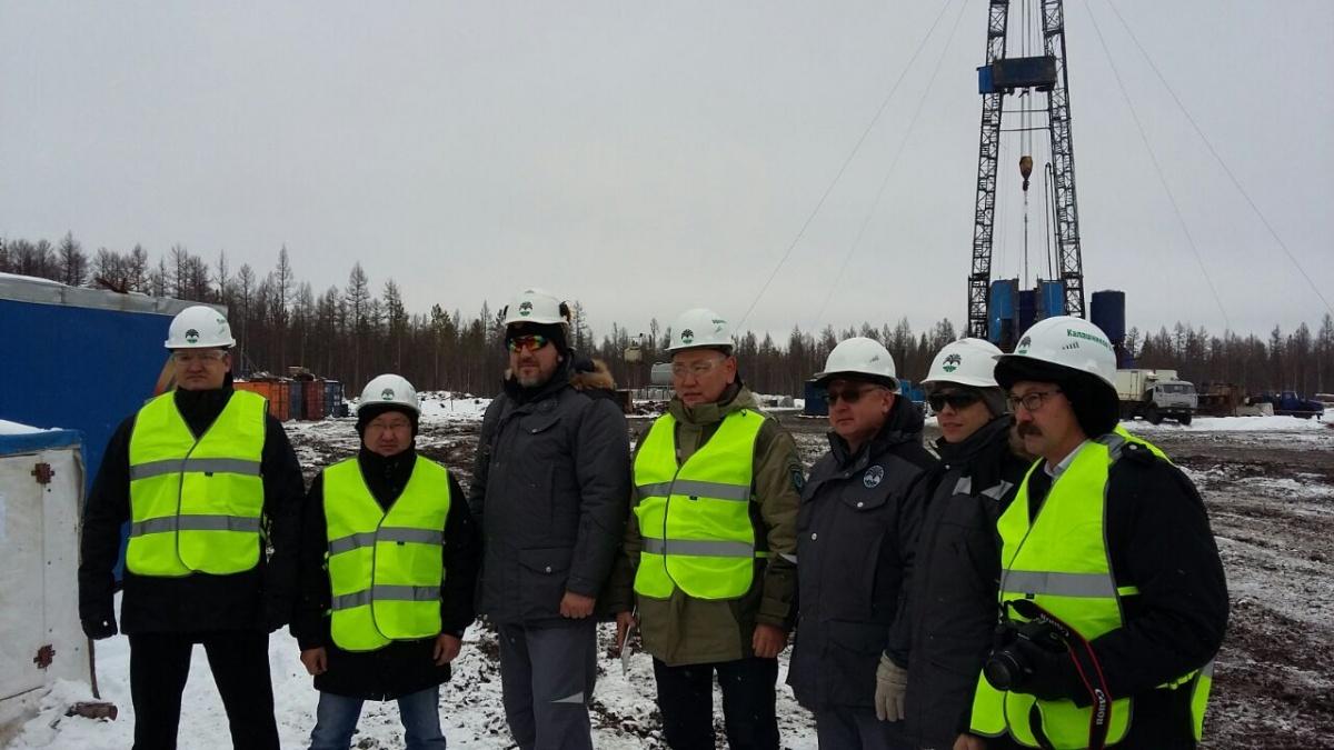 Делегация ИНК и правительства Республики Саха (Якутия) на Иктехском участке