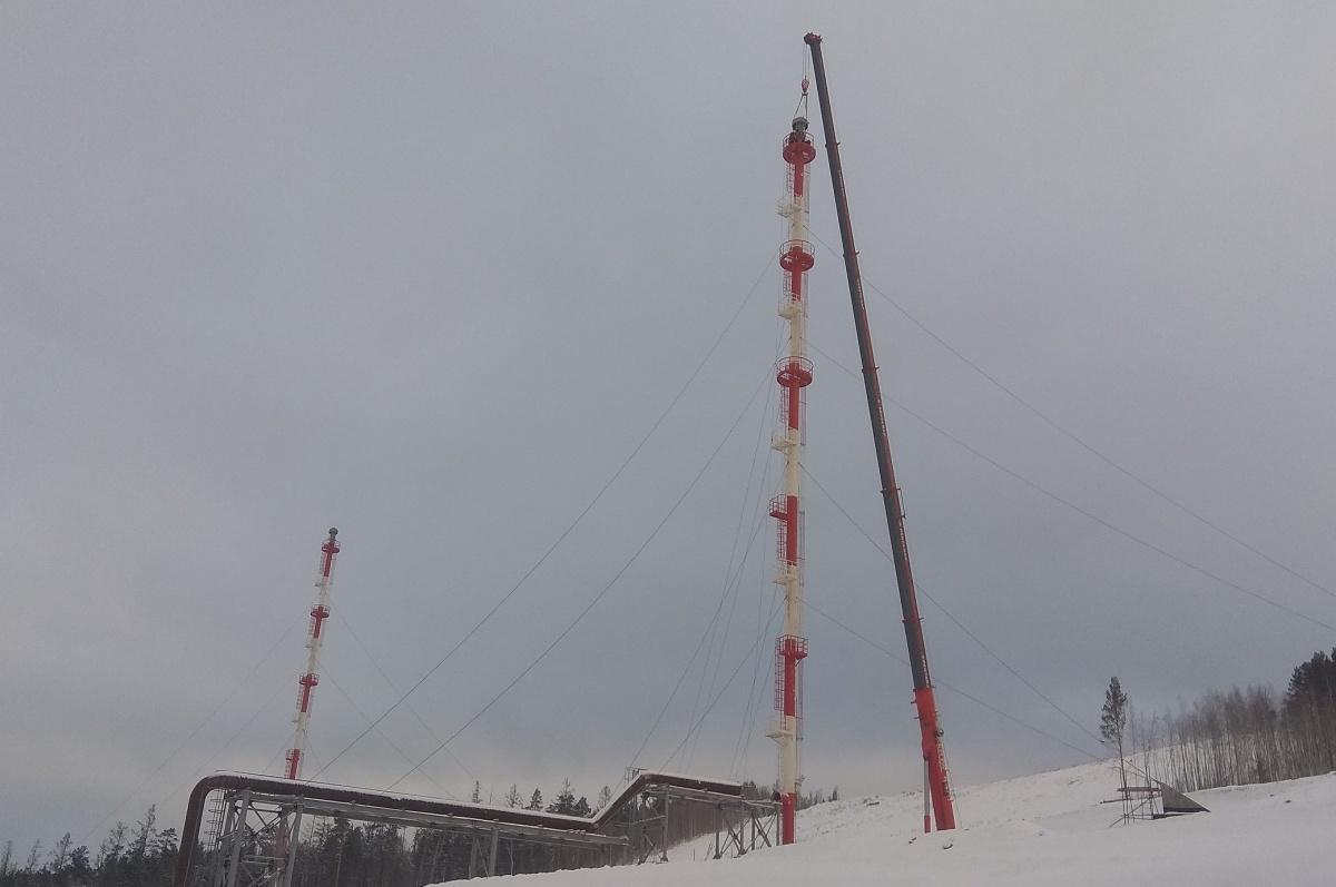 Иркутская нефтяная компания установила факельное оборудование на Усть-Кутском ГПЗ